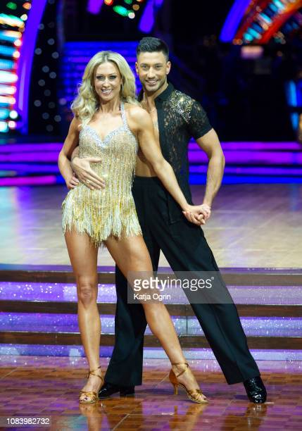 Faye Tozer and Giovanni Pernice attend the photocall for the 'Strictly Come Dancing' live tour at Arena Birmingham on January 17 2019 in Birmingham...