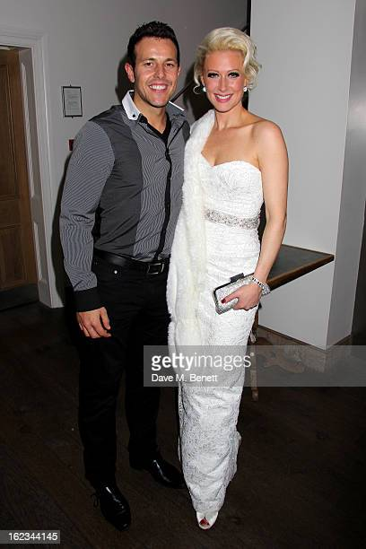 Faye Tozer and Lee LatchfordEvans attend 'The TailorMade Man' press night after party at the Haymarket Hotel on January 21 2013 in London England