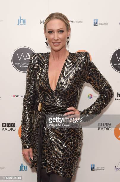 Faye Tozer attends The WhatsOnStage Awards 2020 at The Prince of Wales Theatre on March 1 2020 in London England