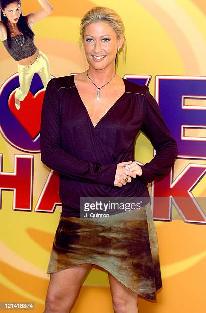 Faye Tozer during Love Shack the Musical Photocall at No 9 Adam Street in London Great Britain