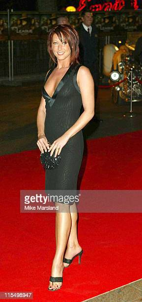 Faye Tozer during The League Of Extraordinary Gentlemen Uk Premiere at The Odeon Leicester Square in London United Kingdom