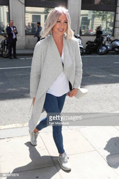 Faye Tozer from Steps seen arriving at BBC Radio 2 on May 23 2018 in London England