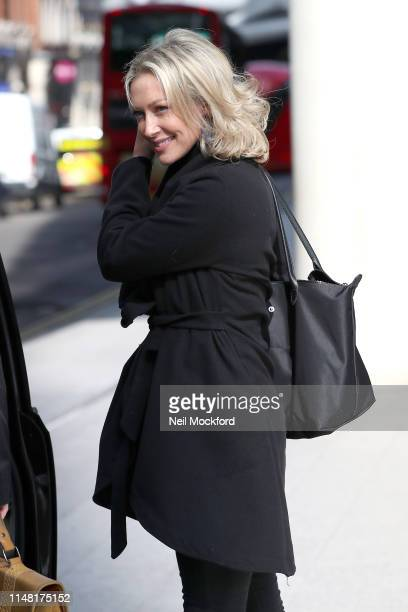 Faye Tozer leaving The Chris Evans Breakfast Show on Virgin Radio with Sky on May 10 2019 in London England