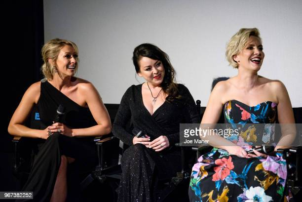 Faye Tozer Lisa ScottLee and Claire Richards take part in a QA session at the DVD launch of 'Steps Party On The Dancefloor' at the Everyman Cinema on...