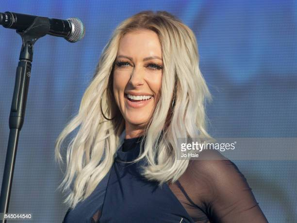 Faye Tozer of Steps performs on stage at The Last Night of the Proms at Royal Albert Hall on September 9 2017 in London England