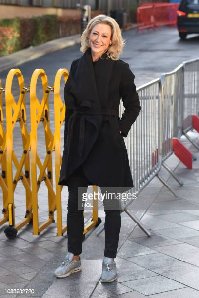 Faye Tozer seen outside the ITV Studios on December 17 2018 in London England