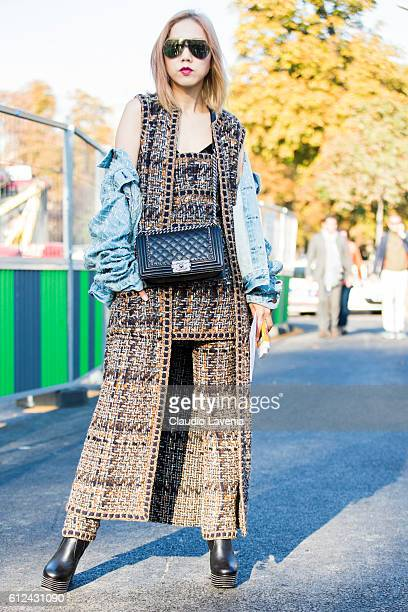 Faye Tsui attends Chanel show on day 8 of Paris Womens Fashion Week Spring/Summer 2017 on October 4 2016 in Paris France