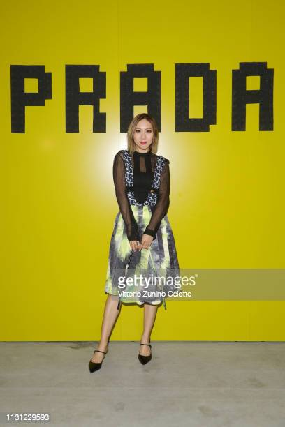 Faye Tsui attends the Prada Show during Milan Fashion Week Fall/Winter 2019/20 on February 21 2019 in Milan Italy