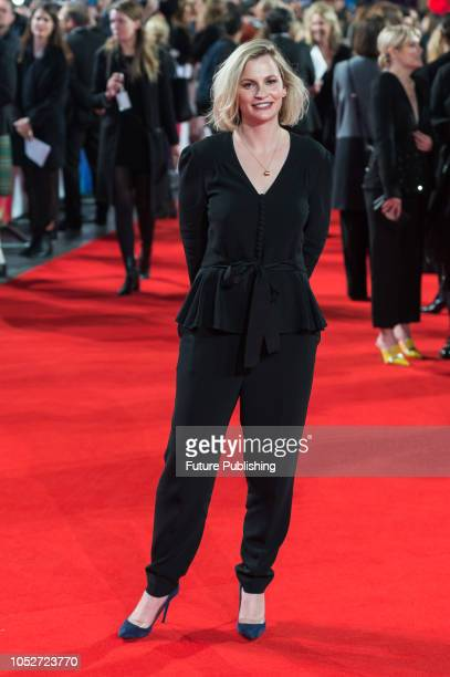Faye Ward attends the World Premiere of 'Stan & Ollie' at Cineworld, Leicester Square, during the 62nd London Film Festival Closing Night Gala....