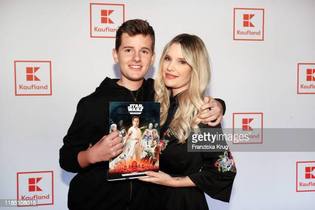 Fayn Neven du Mont and his mother Mirja du Mont during the start of the ad campaign Das Gute in Dir by Kaufland at Gasometer on November 27 2019 in...
