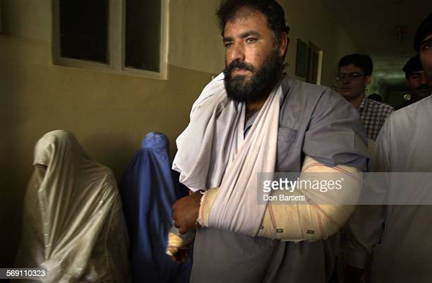 Fazal Rehman walks through Naseer Teaching Hospital in Peshawar Pakistan where he was treated for injuries allegedly suffered the night of Oct 10...
