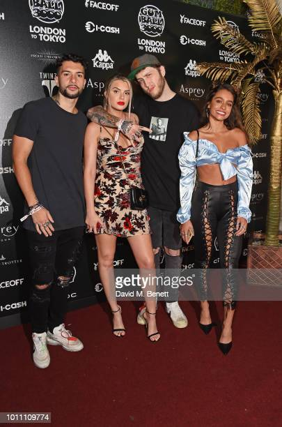 FaZe Temperrr Alissa Violet FaZe Banks and Sommer Ray attend the official launch party for the Gumball 3000 Rally at Proud Embankment on August 4...