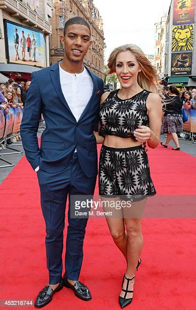 Fazer and AshleyEmma Havelin attend the World Premiere of The Inbetweeners 2 at Vue West End on August 5 2014 in London England