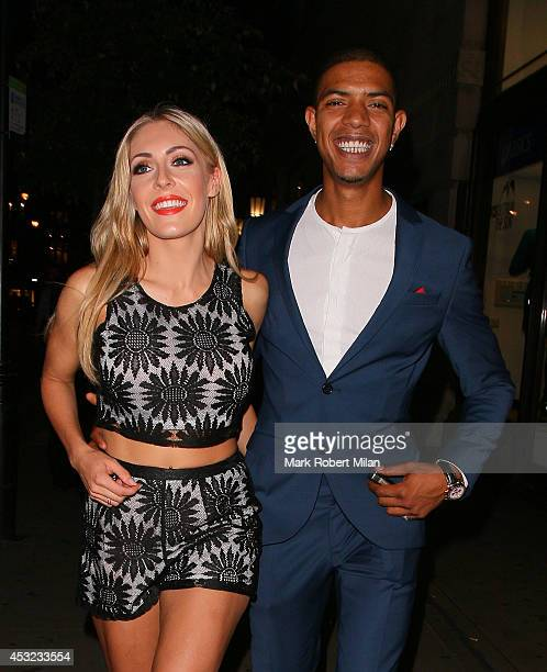 Fazer and AshleyEmma Havelin attending the Inbetweeners 2 aftershow party at Aqua on August 5 2014 in London England