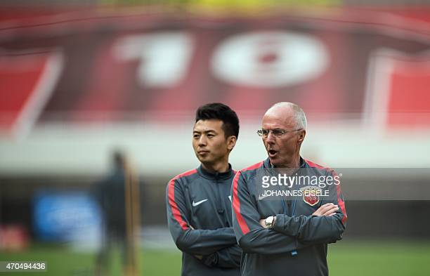 FblENGPrCHNEriksson INTERVIEW by Neil CONNOR This photo taken in Shanghai on April 18 shows Former England manager SvenGoran Eriksson attending a...