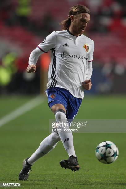Fc Basel defender Michael Lang from Switzerland during SL Benfica v FC Basel UEFA Champions League round six match at Estadio da Luz on December 05...