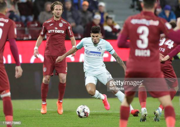 FCSBs Florinel Coman during the Liga I match between CFR Cluj and FCSB at DrConstantinRadulescuStadium on February 2 2020 in ClujNapoca Romania