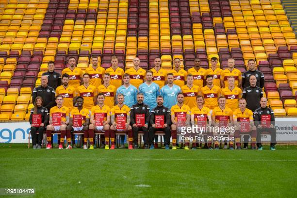 The Motherwell team picture for season 2018/2019..Back Row Andy Boles, Ryan Bowman, Aaron Taylor-Sinclair, Andy Rose, Conor Sammon, Tom Aldred,...