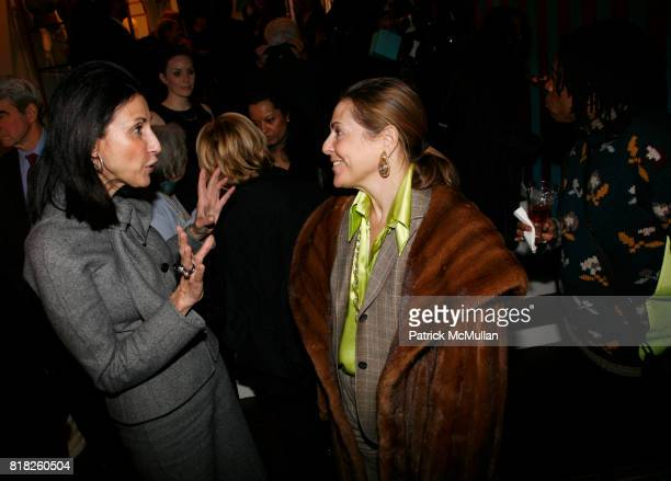 Fe Fendi and Alexandra Lebenthal attend SUSAN COHN ROCKEFELLER launches ROCKNROLA Jewelry line to benefit OCEANA at Buck House on February 2 2010 in...