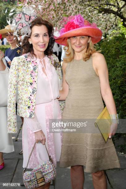 Fe Fendi and Enrica Arengi attend 36th Annual Frederick Law Olmsted Awards Luncheon Central Park Conservancy at The Conservatory Garden in Central...