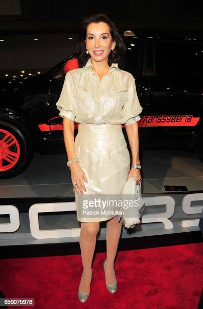 Fe Fendi attends PORSCHE hosts EAST SIDE HOUSE SETTLEMENT gala preview of the 2009 New York International Auto Show at Jacob Javits Center NYC on...