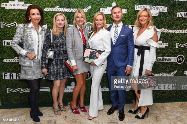 Fe Fendi Barbara Cirkva Kathy Prounis Yaz Hernandez Dr John Mesa and Leticia Presutti attends 2017 Couture Council Award Luncheon at David H Koch...