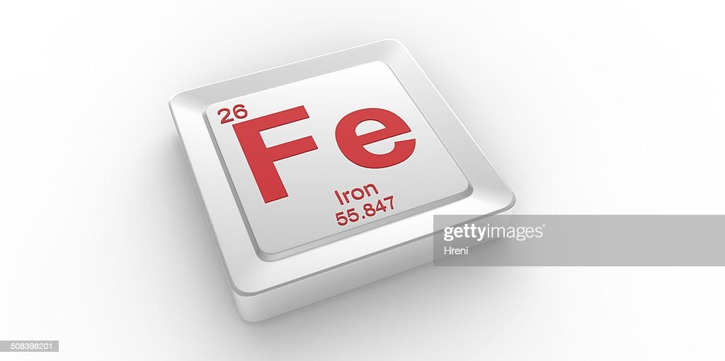 Fe Symbol 26 Material For Iron Chemical Element Stock Photo Getty