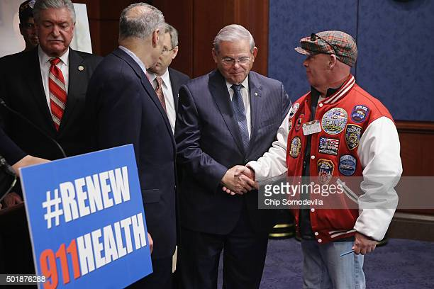 FealGood Foundation cofounder John Feal thanks Sen Robert Menendez Sen Mark Kirk and Sen Chuck Schumer after the Zadroga 9/11 health and compensation...