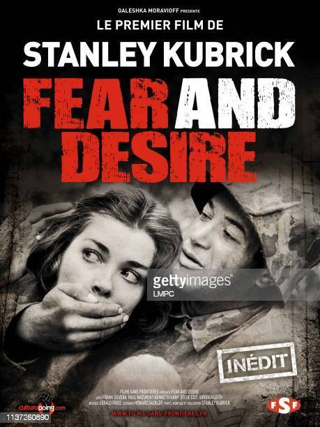 Fear And Desire poster French rerelease poster art from left Virginia Leith Paul Mazursky 1953