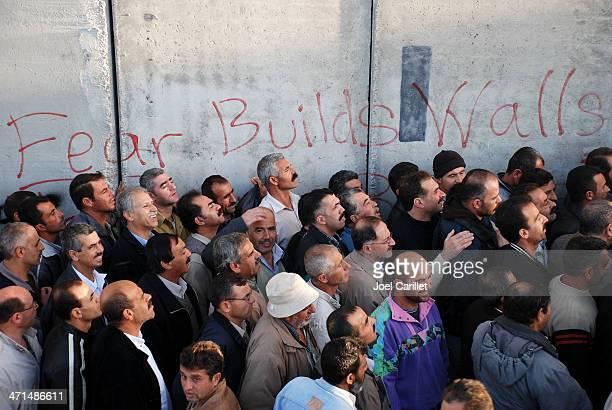 receio desenvolve paredes em israel e na palestina - territórios da palestina - fotografias e filmes do acervo