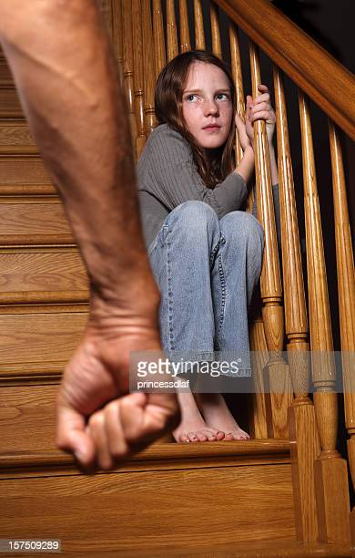 fear - nasty little girls stock photos and pictures