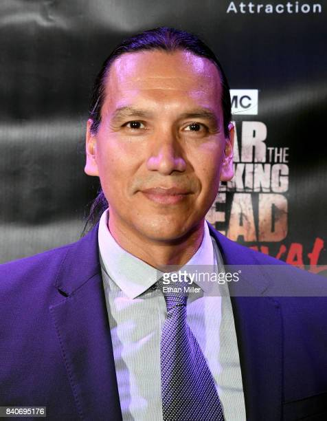 'Fear the Walking Dead' television series cast member Michael Greyeyes attends the Fear the Walking Dead Survival attraction grand opening at the...