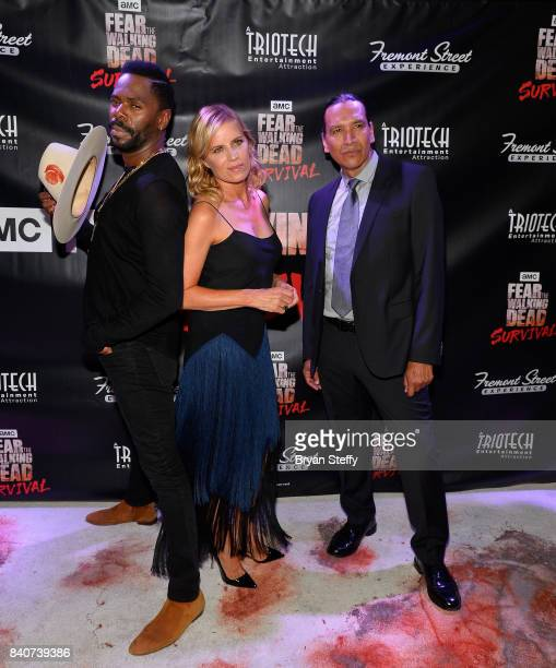 'Fear The Walking Dead' television series cast members Colman Domingo Kim Dickens and Michael Greyeyes attend the Fear the Walking Dead Survival...