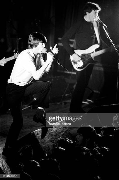 Feargal Sharkey and Michael Bradley of The Undertones perform on stage UK 1981