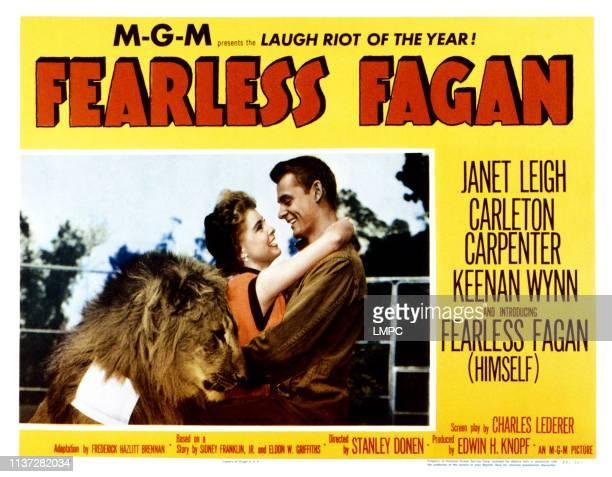 Fearless Fagan lobbycard from left Janet Leigh Carleton Carpenter 1952