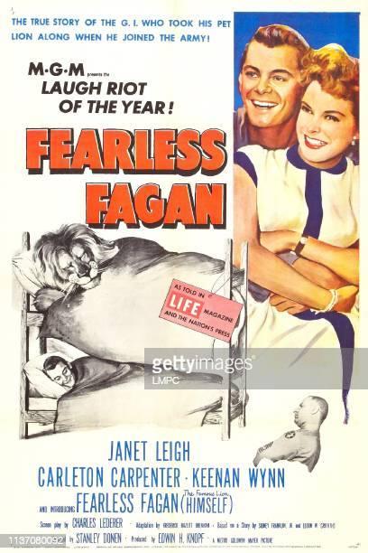 Fearless Fagan poster US poster right from top Carleton Carpenter Janet Leigh Keenan Wynn 1952