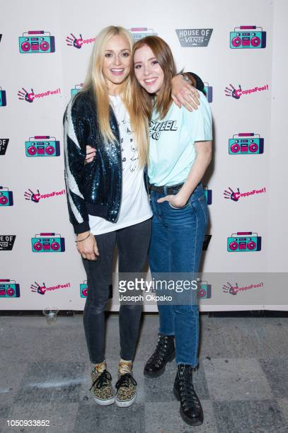 Fearne Cotton and Angela Scanlon attend Festifeel Festival 2018 by Coppafeel at House of Vans on October 6 2018 in London England