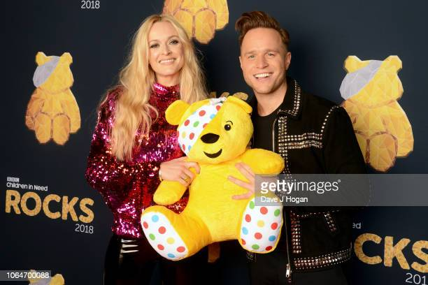 LONDON ENGLAND NOVEMBER 07 Fearne Cotton and Olly Murs at The SSE Arena Wembley during filming for Children in Need Rocks 2018 airing on BBC One on...