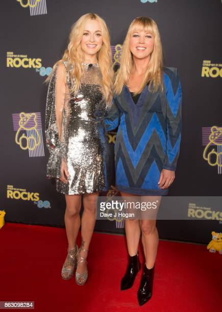Fearne Cotton and Sara Cox is pictured at BBC Children in Need Rocks the 80s at SSE Arena on October 19, 2017 in London, England.