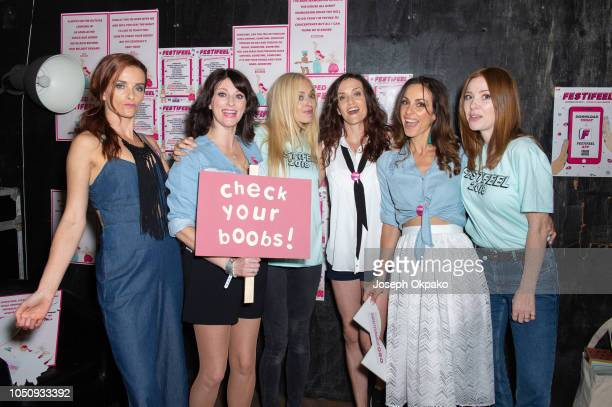 Fearne Cotton Angela Scanlon and B*Witched pose backstage at Festifeel Festival 2018 by Coppafeel at House of Vans on October 6 2018 in London England