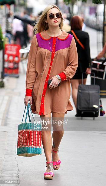 Fearne Cotton arrives at BBC Radio 1 on July 27 2012 in London England