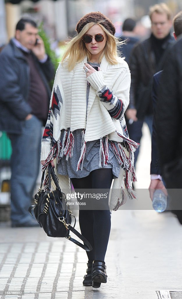 Fearne Cotton Arrives At BBC Radio 1 on October 9, 2012 in London, England.
