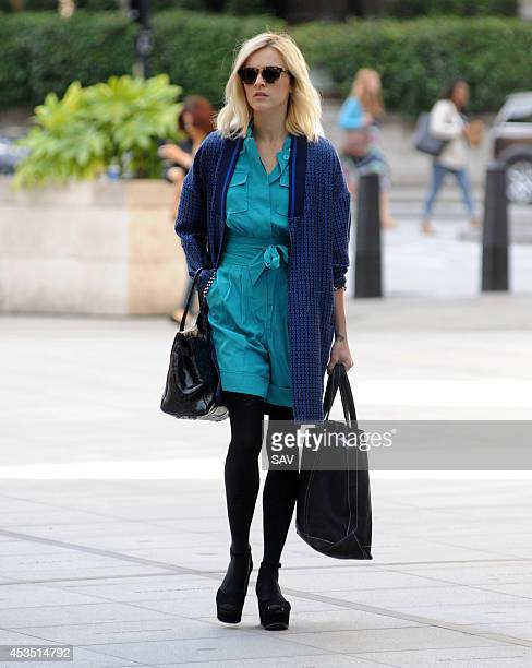 Fearne Cotton arrives at Radio 1 on August 12 2014 in London England