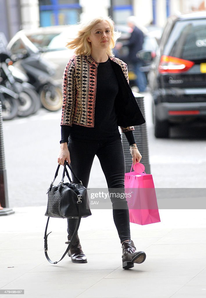 Fearne Cotton arrives at Radio 1 on March 19, 2014 in London, England.