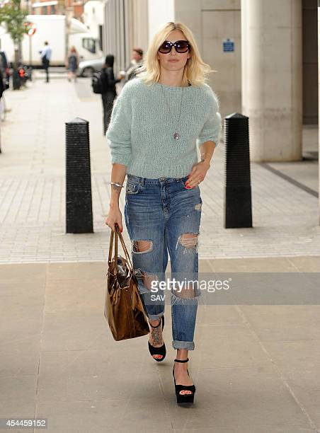 Fearne Cotton arrives at Radio 1 on September 1 2014 in London England