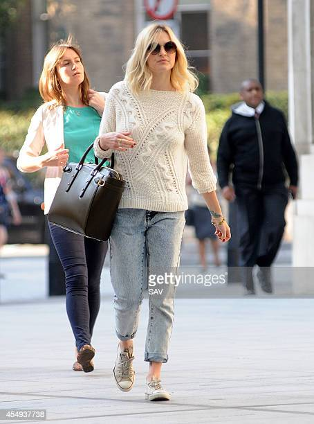 Fearne Cotton arrives at Radio 1 on September 8 2014 in London England