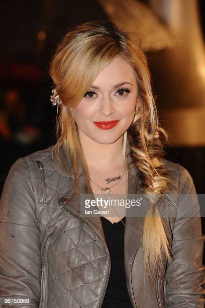 Fearne Cotton arrives on the red carpet for The Brit Awards 2010 at Earls Court on February 16 2010 in London England