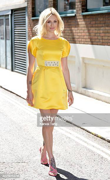 Fearne Cotton attends a photocall for her AW14 fashion collection for Verycouk at The Groucho Club on July 30 2014 in London England