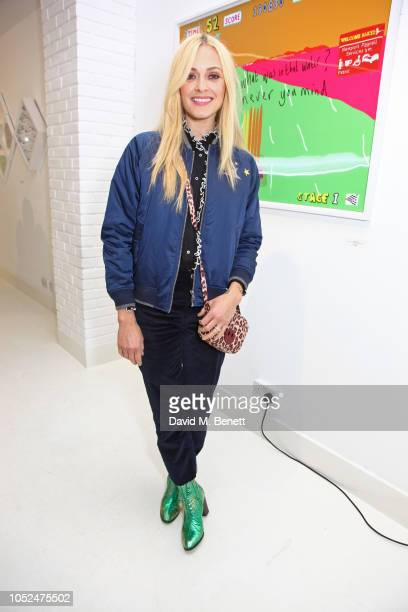 Fearne Cotton attends a private view of Daft Apeth by Serge Pizzorno of Kasabian at No Ho Showrooms on October 18 2018 in London England