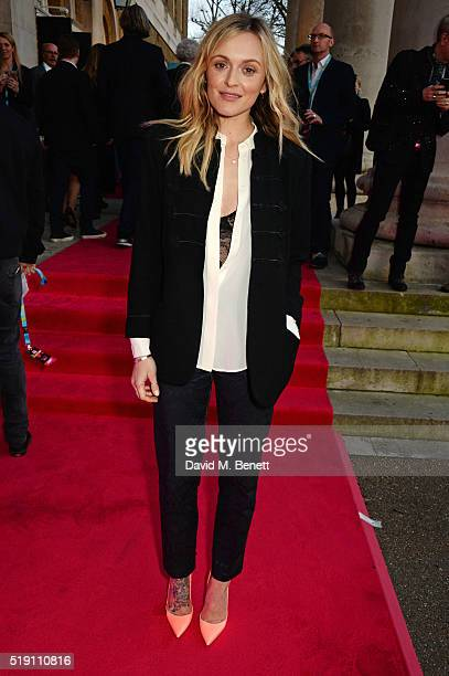 Fearne Cotton attends a private view of 'The Rolling Stones Exhibitionism' at The Saatchi Gallery on April 4 2016 in London England
